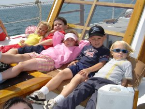 Learn about six tips for sailing with kids onboard The Liberté.